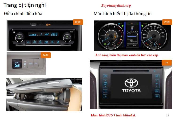 Hệ thống âm thanh với DVD 7 inch kết nối Bluetooth, mang lại những giây phút thư giãn, thoải mái cho người ngồi trong xe