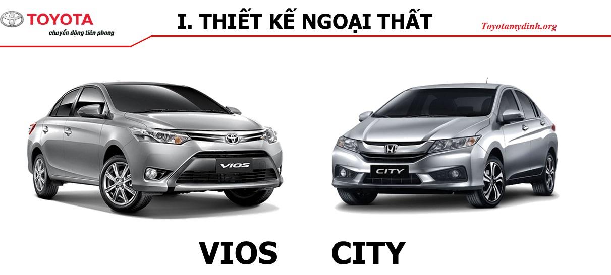 So sánh Toyota vios và Honda city 2017 - Toyota mỹ đình