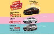 Xe Toyota tưng bừng khuyến mãi tháng 8 năm 2017
