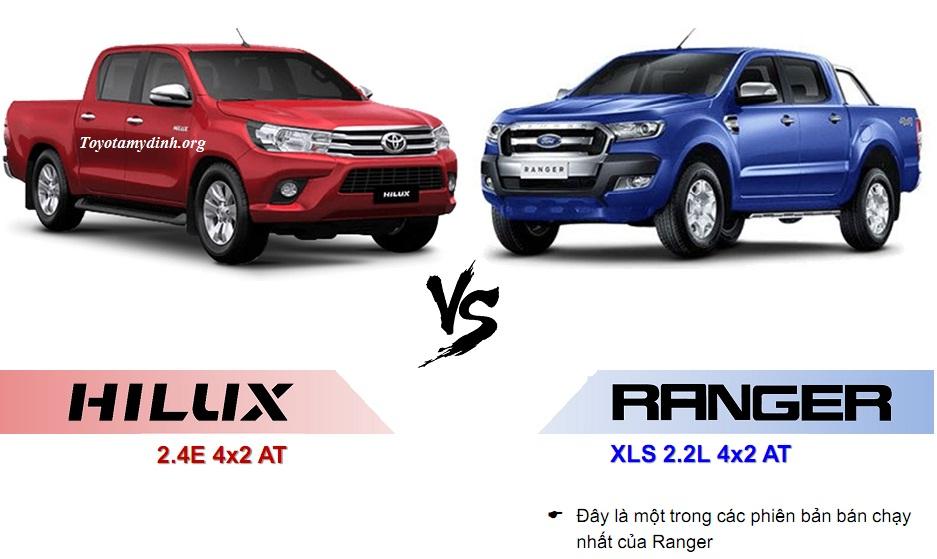 So sánh Hilux 2018 mới ra mắt với Ford ranger
