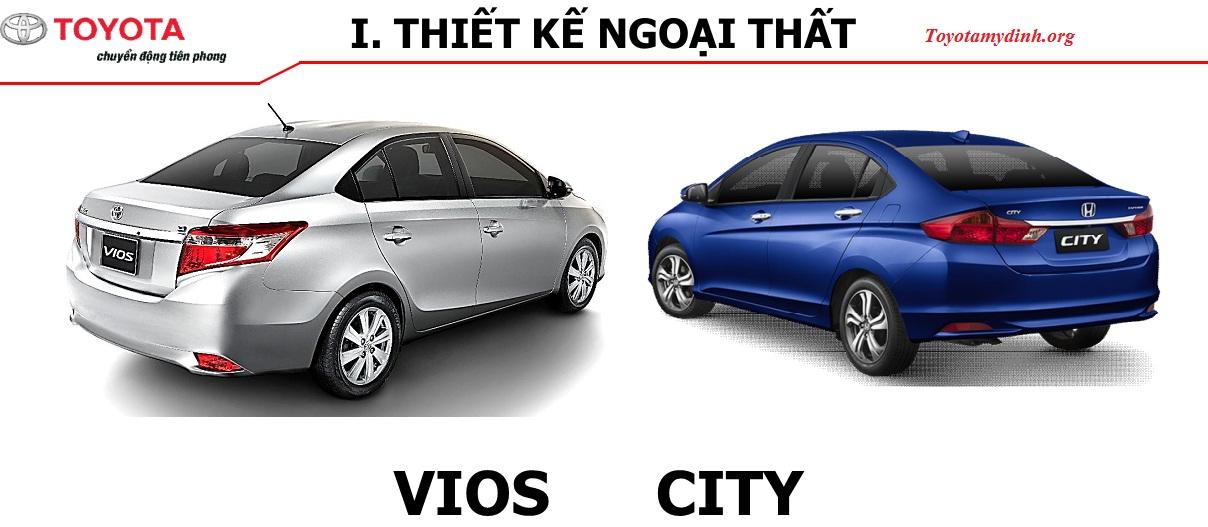 Honda City và Vios thiết kế phía sau