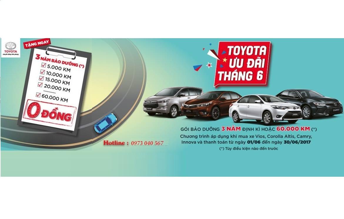 Chương trình khuyến mãi Tháng 6/2017 Toyota Mỹ Đình