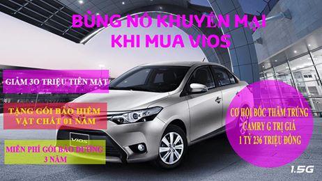 Khuyến mãi lớn chưa từng có khi mua xe trong tháng 5-2017 tại Toyota mỹ đình