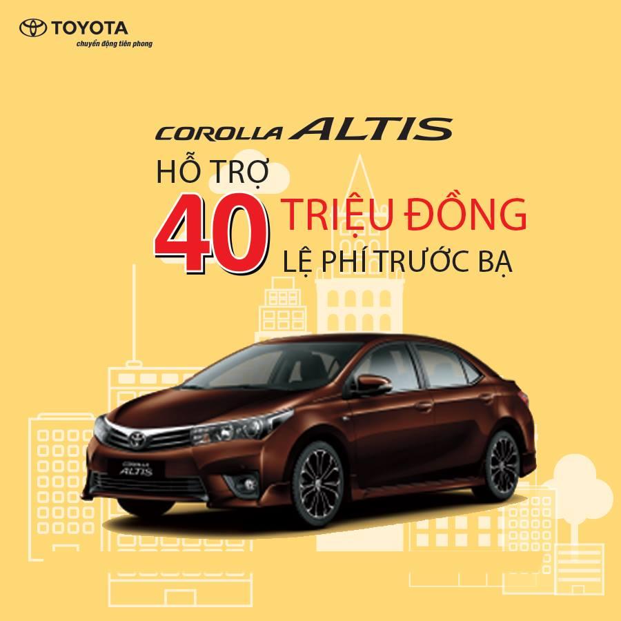 Altis là dòng sedan cũng được hỗ trợ không kém, hứa hẹn sẽ có được mốc bán hàng tốt tháng 7, 8-2017