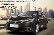 Những thay đổi trên Toyota Corolla altis mới - Altis 2018, 2019