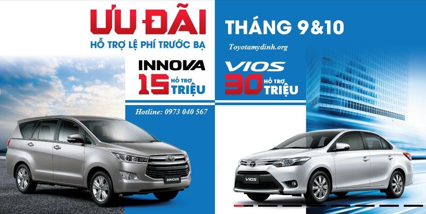 Toyota Tiếp tục chương trình khuyến mãi lớn cho tháng 9, tháng 10 - Toyota mỹ đình