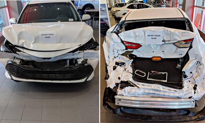 Tin Toyota Mỹ Đình-Chiếc Toyota Camry rách nát gây sốt mạng xã hội Mỹ