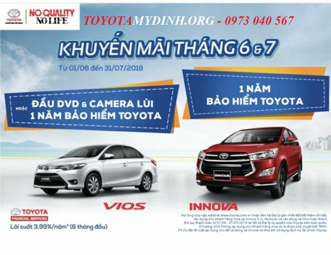 Toyota mỹ đình - Chương trình khuyến mãi tháng 6-7 năm 2018