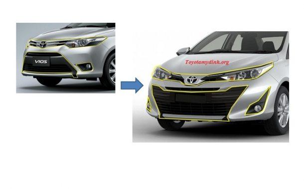 Điểm thay đổi trên Vios 2018 - Toyota mỹ đình